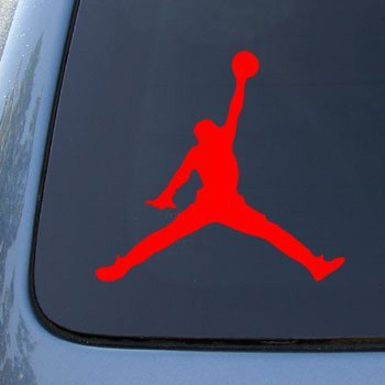 MICHAEL JORDAN AIR - Vinyl Car Decal Sticker #A1624 | Vinyl Color: Red