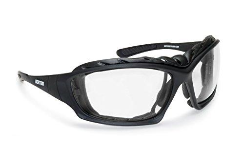 Occhiali fotocromatici convertibili in maschera con lenti antiappannanti by Bertoni - Italy (F366A)