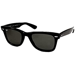 Ray Ban Sunglasses 2140 (47 mm Black Frame, Solid Black Lens)