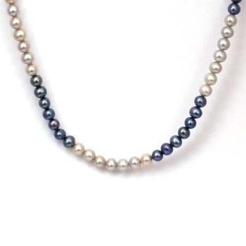The Olivia Collection Freshwater Cultured Multi Shade Grey Pearl Necklace