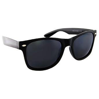 Blues Brothers Wayfarer Dark Black Sun Glasses - Black