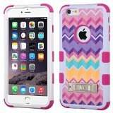 Product B00OS6EL7U - Product title MyBat iPhone 6 Plus Camo TUFF Hybrid Protector Cover with Stand - Retail Packaging - Pink