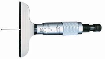 Starrett 449 Vernier Depth Gauges, Micrometer Type, Inch