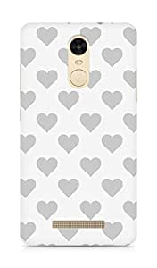 Amez designer printed 3d premium high quality back case cover for Xiaomi Redmi Note 3 (grey hearts)