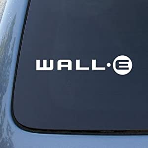 WALL-E LOGO - Disney - Vinyl Car Decal Sticker #1759 | Vinyl Color: White