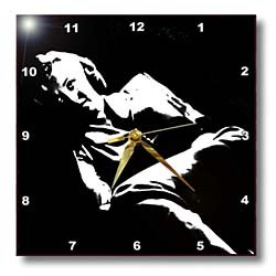 , Portrait, Black and White, Actress Wall Clock, 10 by 10-Inch