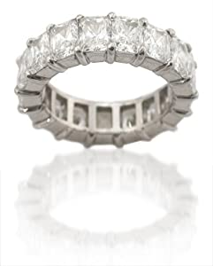 Diamond & Platinum Eternity Wedding Band Ring (8.54ct)