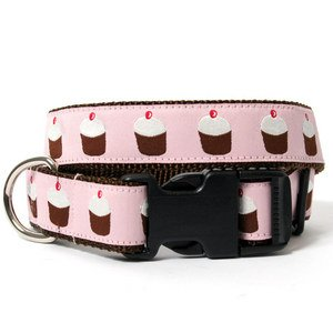 Bella Bean Couture French Pink Cupcake Collar - Small - 1 inch