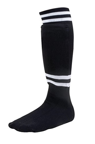 Champion Sports Youth Sock Style Soccer Shinguards - Ages 8-10/Large - Black (Pair) - 1