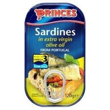 Princes Sardines In Extra Virgin Olive Oil 120G