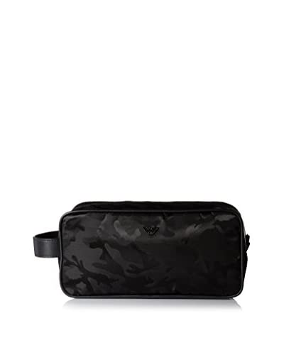 Emporio Armani Camouflage Pattern Nylon Toiletry Case, Black