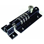 FJM Security CB2000-BLACK Sliding Barrel Bolt with Combination Lock