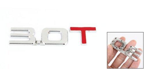 Alliage Couleur Argent Rouge 3.0T modèle 3D auto voiture emblème badge autocollant