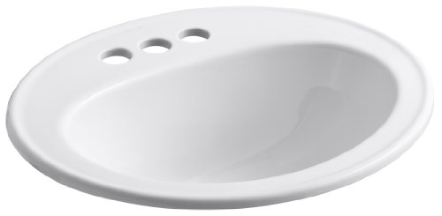 Great Features Of Kohler K-2196-4-0 Pennington Self-Rimming Lavatory, White
