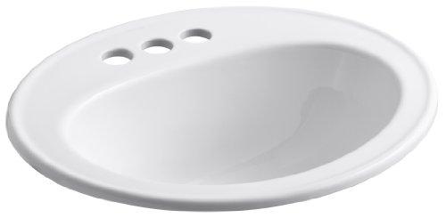 Great Features Of Kohler K-2196-4-0 Pennington Self-Rimming Lavatory, White