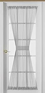 Sheer Voile Door Panel 40'' long - Color : White