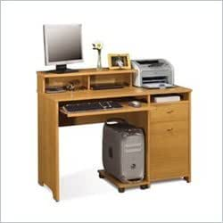Bestar Legend Home Office Wood Computer Desk in Golden Oak