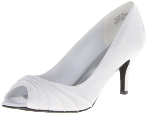 Annie Shoes Women's Lantern Dress Pump,Pearl/White,8.5 M US