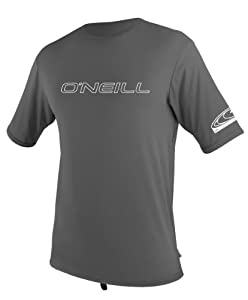 O'Neill Wetsuits Basic Skins Tee Rash Guard  (Graphite, Large)