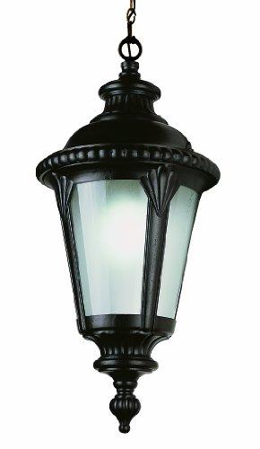 Black Bel Air Lighting Trans Globe Lighting 5284 BK 16-Inch 1-Light Outdoor Medium Hanging Lantern