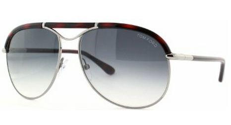 Tom Ford Marco FT0235 Sunglasses -14B Silver/Havana (Gray Gradient Lens) - 59mm
