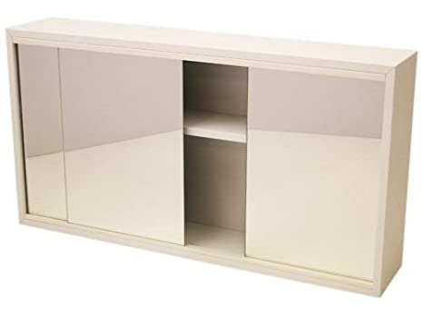 Generic QY-UK4-16FEB-20-1145 *1**2921** Cabinet Mirrore 3-Door Bathroom White M White Mirrored r Bathr (factory seconds) conds) 66x35x13cm factory seconds)