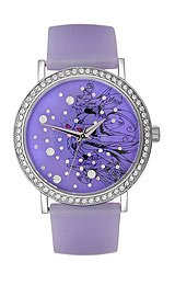 Ed Hardy Lovebirds Silicone Strap Purple Dial Women's watch #LV-PU