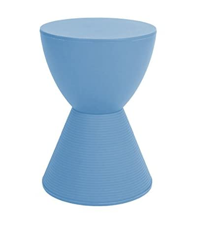 Macer Home Hourglass Stool, Blue