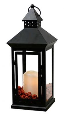 Flicker Flame Black Cast Iron Lantern With Led Vanilla Scented Candle from Flicker Flame