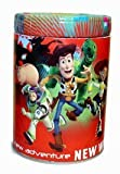Round Coin Bank - Disney - Toys Story - Woody Buzz Lightyear Tin New 825207-2