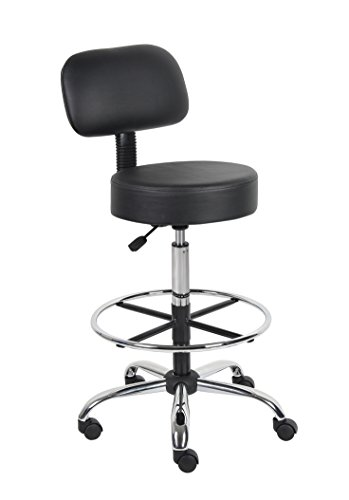 boss-office-products-b16245-bk-be-well-medical-spa-drafting-sool-with-back-in-black