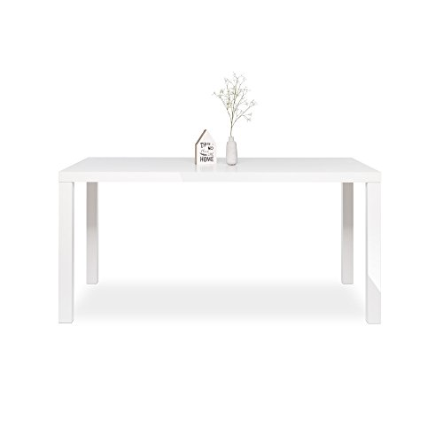 Esstisch-Esszimmertisch-Kchentisch-Schreibtisch-Primo-Hochglanz-wei-160x80-cm