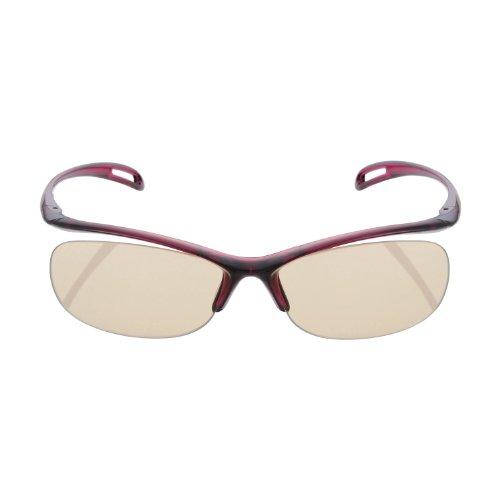 ELECOM ブルーライト対策眼鏡 超吸収 ブラウンレンズ ワイン OG-YBLP01WN