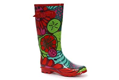 Tropical Fruit Print Welly Femme Wellington bottes en caoutchouc 41
