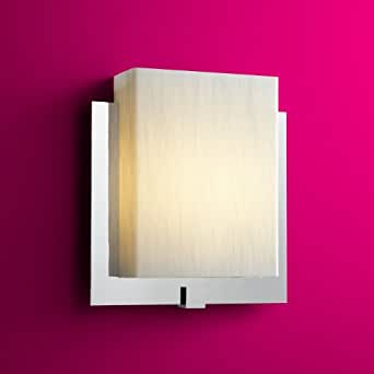 Wall Lights With Emergency : Oxygen Lighting Pathways 2-5118-614-Em Wall Sconce Emergency Silver Cloth Acrylic Polished ...