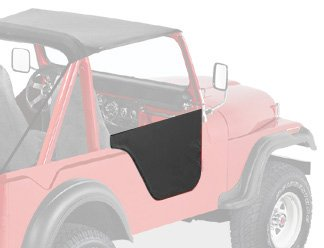 Bestop 53025-01 Black Crush Fabric Lower Half Door Set For M38A1 51-62; Cj-5 55-75; Cj-6 55-81