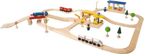PlanToys Road & Rail City Transportation Play Set