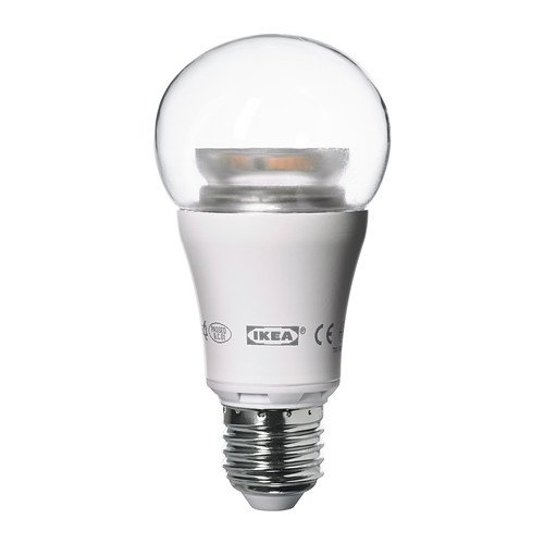 Ikea LEDARE LED bulb E26, 600 Lumens, Dimmable, Globe Clear