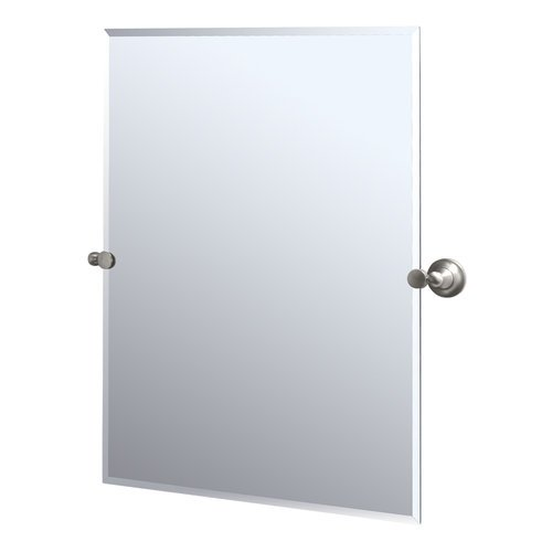 Gatco 4339S Tiara Rectangular Wall Mirror, Satin Nickel front-1010325