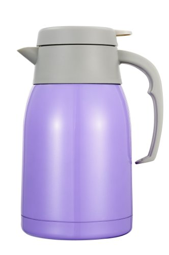 Insulated Stainless Steel Thermal Coffee Pot, 51 Ounce Coffee Bottle,Stainless Steel Thermal Carafe(Purple) front-343752