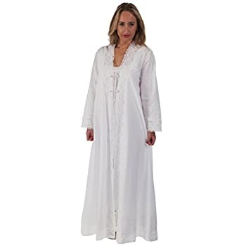 The 1 for U 100% Cotton Ladies Robe / Housecoat - Rosalind