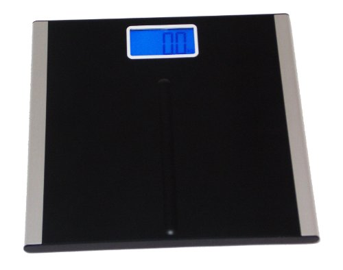 "Cheap Premium Digital Bathroom Scale with 3.5″ LCD and ""Step-On"" Technology – Black – By: Metro Fulfillment House (BS-705)"