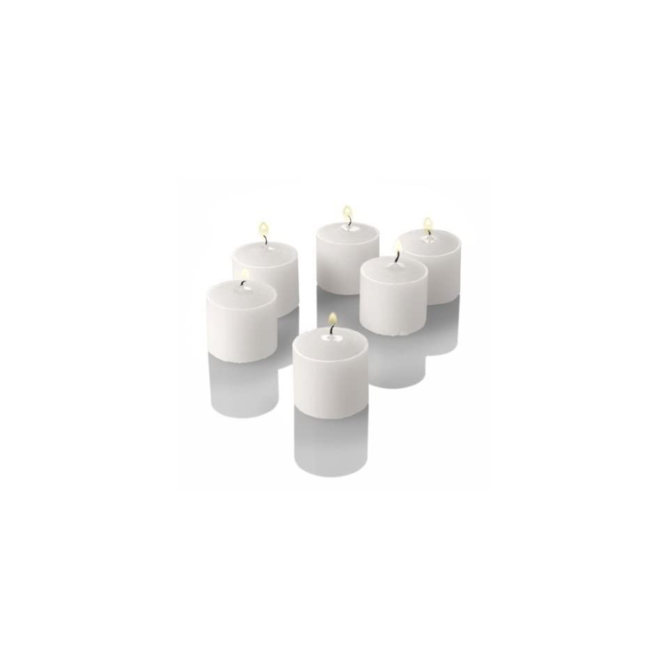 Box of 144   Church Service Memorial Vigil 4 (Four) Hour Straigt Unscented White Votive Candles