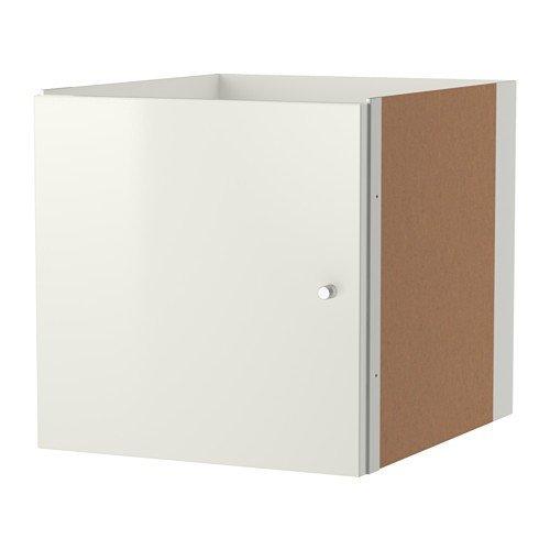 IKEA-KALLAX-Einsatz-mit-Tr-in-Hochglanz-wei-33x33cm-Kompatibel-mit-EXPEDIT