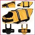 "Dog Pet Puppy Boat Saver Life Jacket Vest Reflective Strip YELLOW (Fits Chest 10"" - 14"" Length 6"") size XXS"