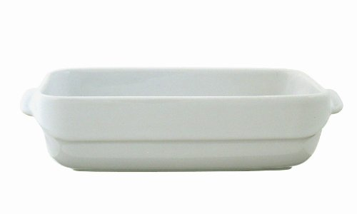 Pyrex Wave Stoneware Rectangular Roaster-25 X 18Cm-White