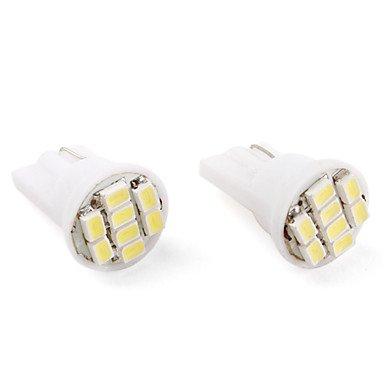 T10 8*1206 Smd White Led Car Signal Lights (2-Pack, Dc 12V)