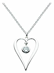 Dew Pendant Open Heart with Hanging Stone of 45.7cm 98296CZ010