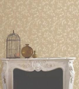 Fine Decor Beatrice Wallpaper - Gold by New A-Brend