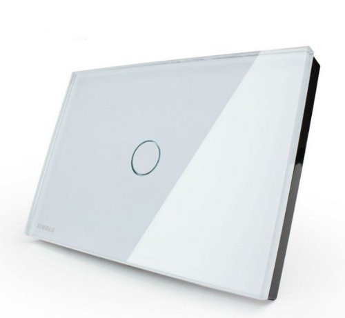 Us/Au Standard, Smart Home, White Crystal Glass Panel, Ac110~250V, Led Indicator, Light Touch Screen Switch Vl-C301-81
